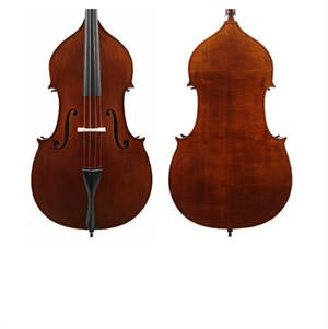 1F 3/4 Double Bass outfit F-style w/adjusters, full circle, DGrealist, & k&k big twin p'up