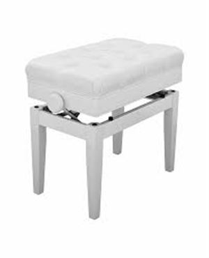 BC-200PE adjustable piano bench	- white