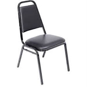 Black Padded Stackable Chair
