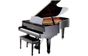 "C7 (Disklavier) Mk IV pro 7'6"" digital/acoustic grand piano (midi piano) w/cover Black"