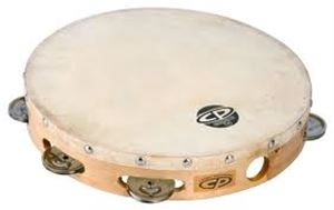 CP 10-inch Wood Headed Tambourine with Double Row Jingles(CP380)