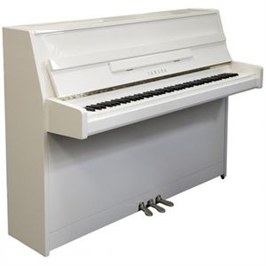 "JU109 109cm(3'7"") Short Upright (silent) digital/acoustic piano(midi piano)w/cover - white"