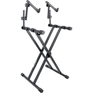 KS7491 2 tier X-type keyboard stand