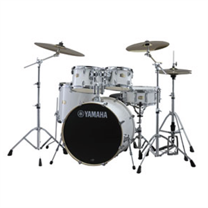 Stage Custom Birch Drum Kit - White