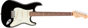 Strat Pro Electric (USA) - Black w/rosewood neck
